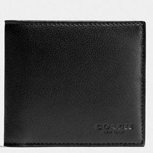 🔵 Coach Men's Leather Double Billfold Wallet🔵